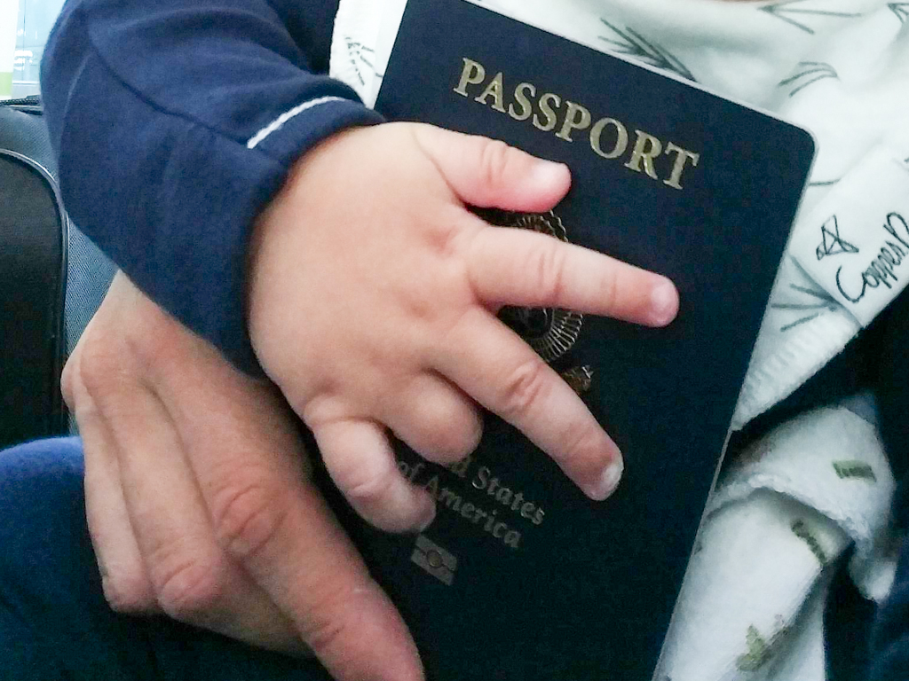 Applying for baby's first passport