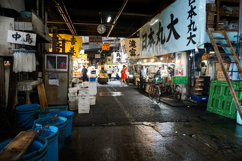 Bringing a baby to Tsukiji fish market