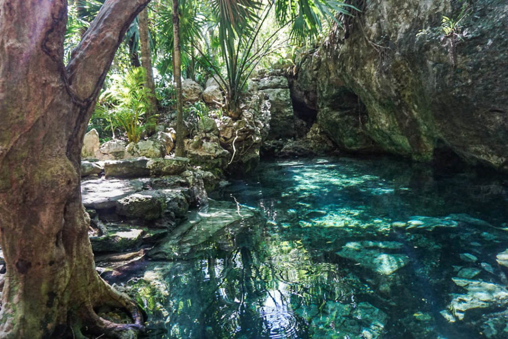 Mini pool at Cenote Azul
