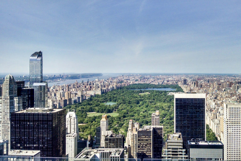 Views of NYC's Central Park from Top of the Rock, add to family travel bucket list