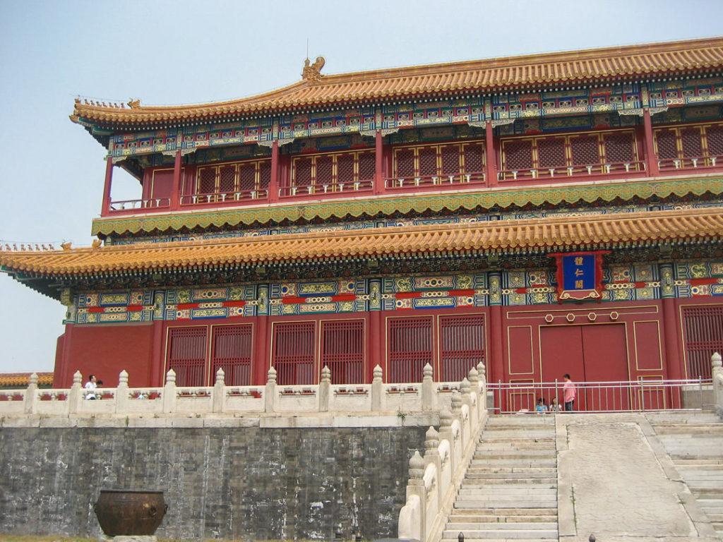 Forbidden City building in Beijing, China