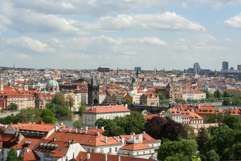 Red roofs of Prague, Czech Republic