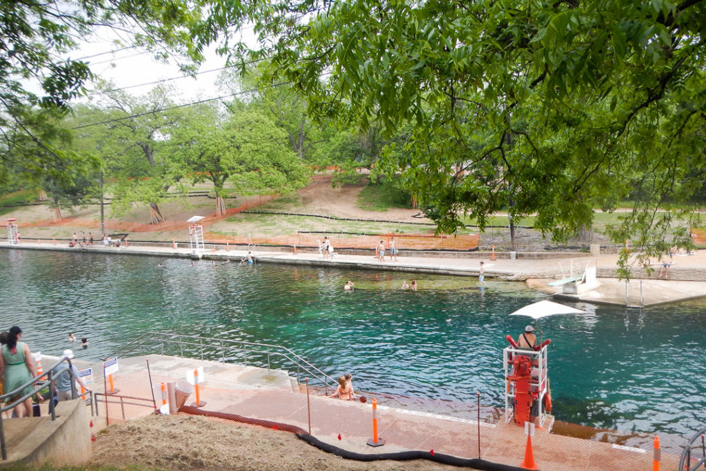 Barton Springs natural pool in Zilker Park - Austin, TX family-friendly itinerary