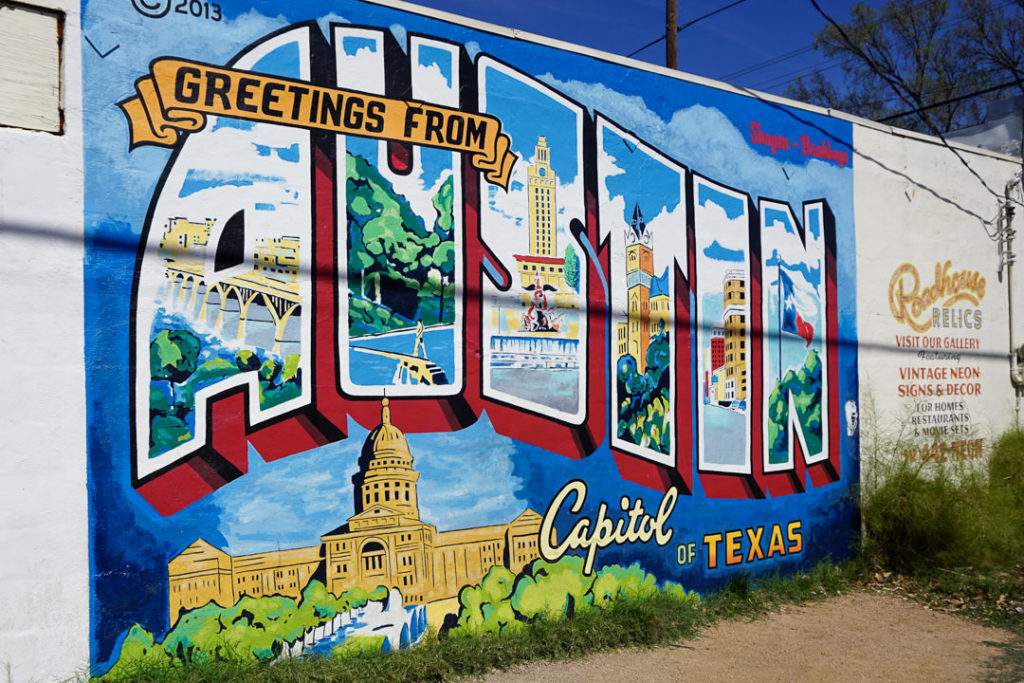 Greetings from Austin mural family-friendly itinerary ideas
