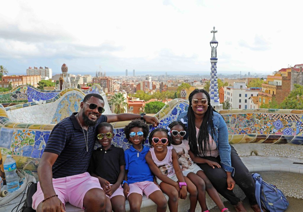 Black family with kids seeing Barcelona - diversity in family travel